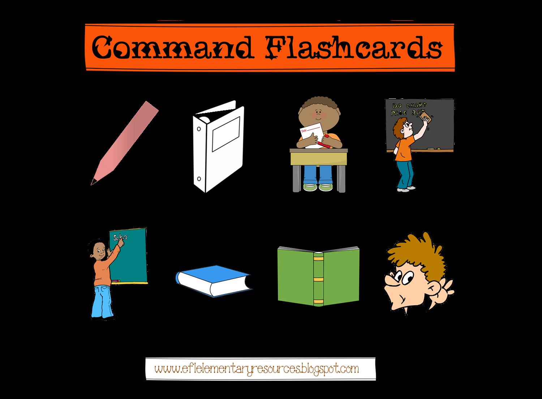 Efl Elementary Teachers Classroom Commands