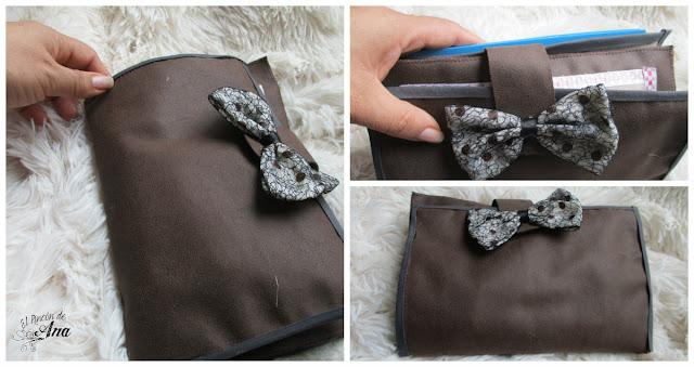 Estuche para los lapices con bolsos al interior
