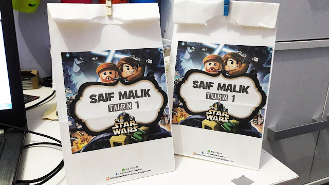 printed paper bag tema star wars