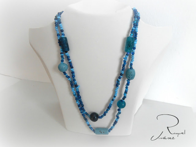 collar,piedra,azul, artesania,bisuteria