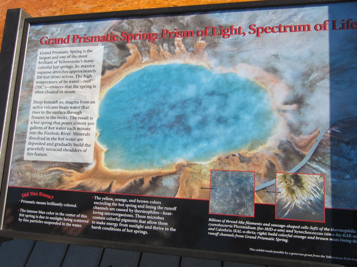 Grand prismatic spring, Yellowstone, Midway geyser basin
