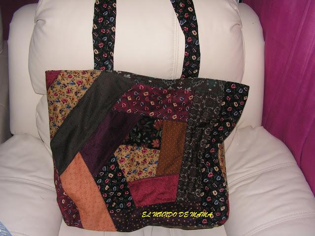Bolso crazy manualidades - Manualidades patchwork bolsos ...