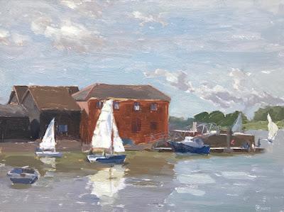 #214 Setting Sail, Dell Quay 9×11″