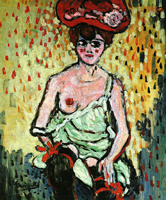 Maurice de Vlaminck, La danseuse du 'Rat Mort', 1905-6, Oil on Canvas, 77 x 65.5cm