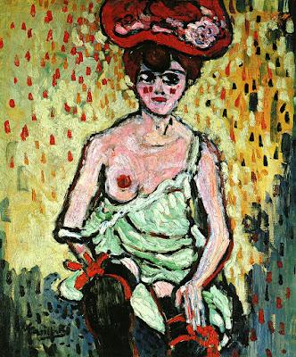 Maurice de Vlaminck, La danseuse du 'Rat Mort', 1905-6, Oil on Canvas, 77 x 65.5cm