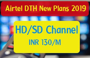 Airtel dth new plans 2019, new dth plans 2019