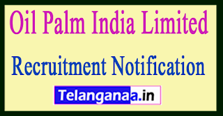 Oil Palm India Limited Recruitment Notification 2017