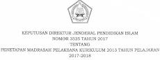 Download SK Dirjen Pendis Madrasah Pelaksana K-13 Tahun 2017/2018