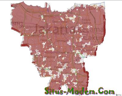 Jangkauan Smartfren 4G LTE Wilayah Jakarta