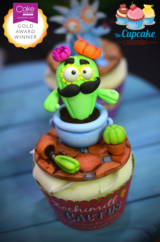 Cupcakes « Alebrijes Mexicains » - Xochimitl le Cactus