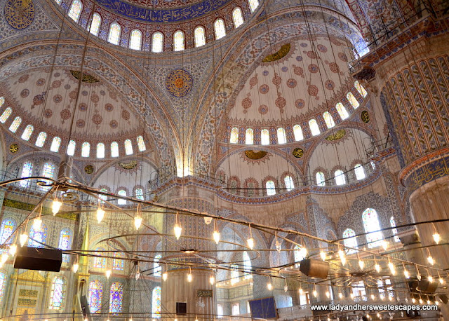 interiors of Blue Mosque Istanbul