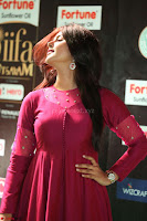 Monal Gajjar in Maroon Gown Stunning Cute Beauty at IIFA Utsavam Awards 2017 068.JPG