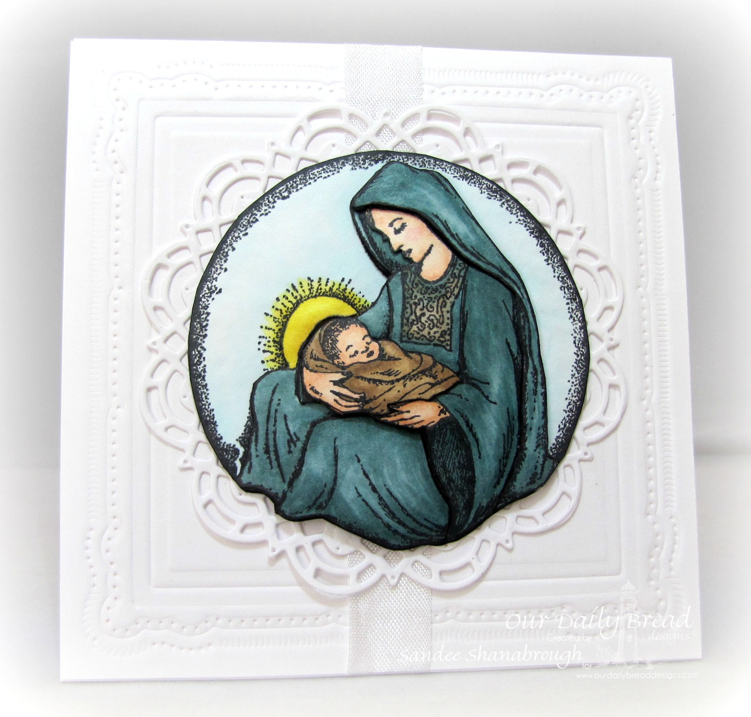 Stamps - Our Daily Bread Designs Mother and Child Ornament, ODBD Custom Doily Dies, ODBD Custom Circle Ornament Dies