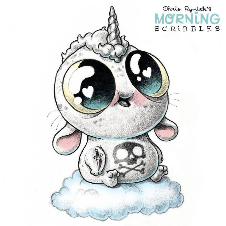 12-Unicorn-Chris-Ryniak-Cute-Creatures-www-designstack-co
