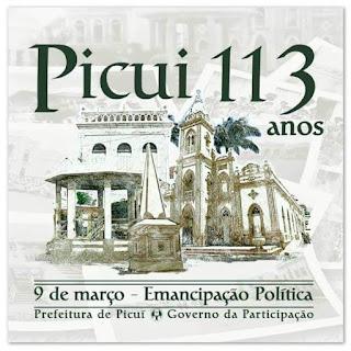 09 de março: Picuí completa 113 anos de emancipação política