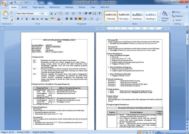 RPP Kelas 8 SMP-MTs Kurikulum 2013 Revisi 2018 Lengkap