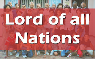 Group of people with various ethnic and national backgrounds - with the title superimposed.   1 Lord of all nations, grant me grace to love all men of every race And in each person that I see my brother, loved, redeemed by thee. 2 Break down the wall that would divide thy people, Lord, on every side. Lead me to seek my neighbour's good in bonds of Christian brotherhood. 3 Forgive me, Lord, where I have erred my loveless act or thoughtless word. Make me to see the wrong I do will crucify you, Lord, anew. 5 Give me the courage, Lord, to speak wherever strong oppress the weak. Should I myself the victim be, help me forgive, remembering thee. With thine own love may I be filled and by the Holy Spirit willed, That all I touch, where'er I be, may be divinely touched by thee.