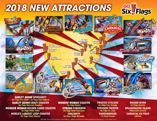 Six flags 2018 new rides