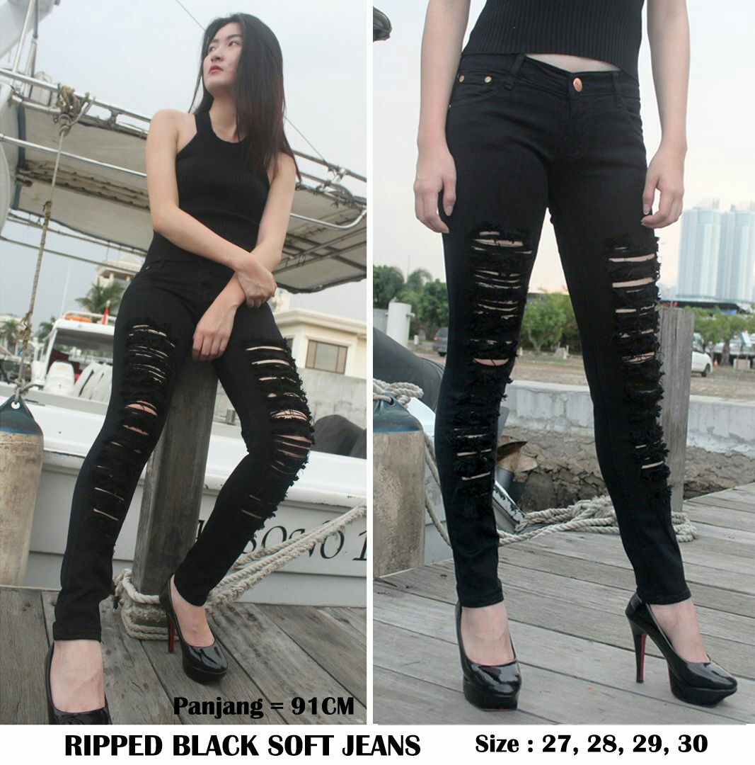 Ripped black Soft Jeans