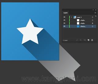 Cara Membuat Long Shadow dengan Menggunakan Illustrator