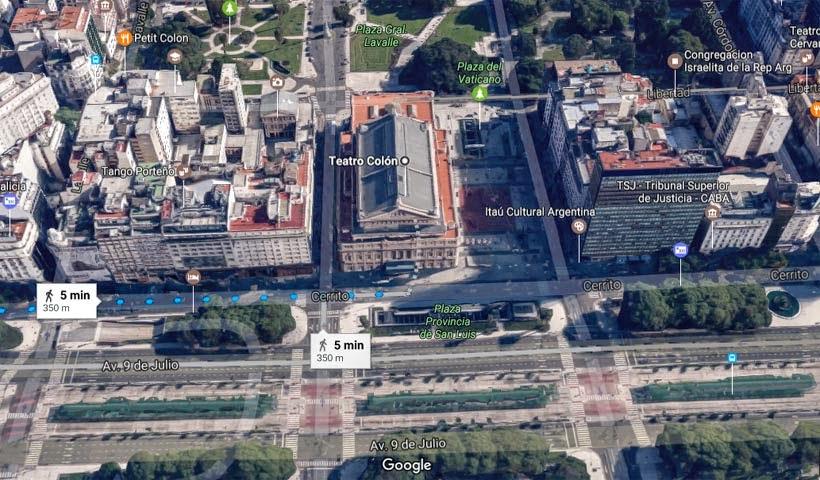 Mapa -Teatro Colón: Buenos Aires (Argentina)