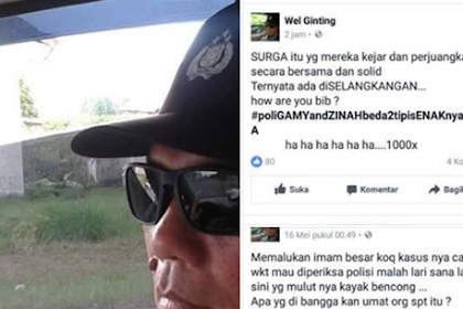 TERBONGKAR!! Inilah Identitas Polisi Mengaku Mualaf Penghina Habib, FPI dan Umat Islam
