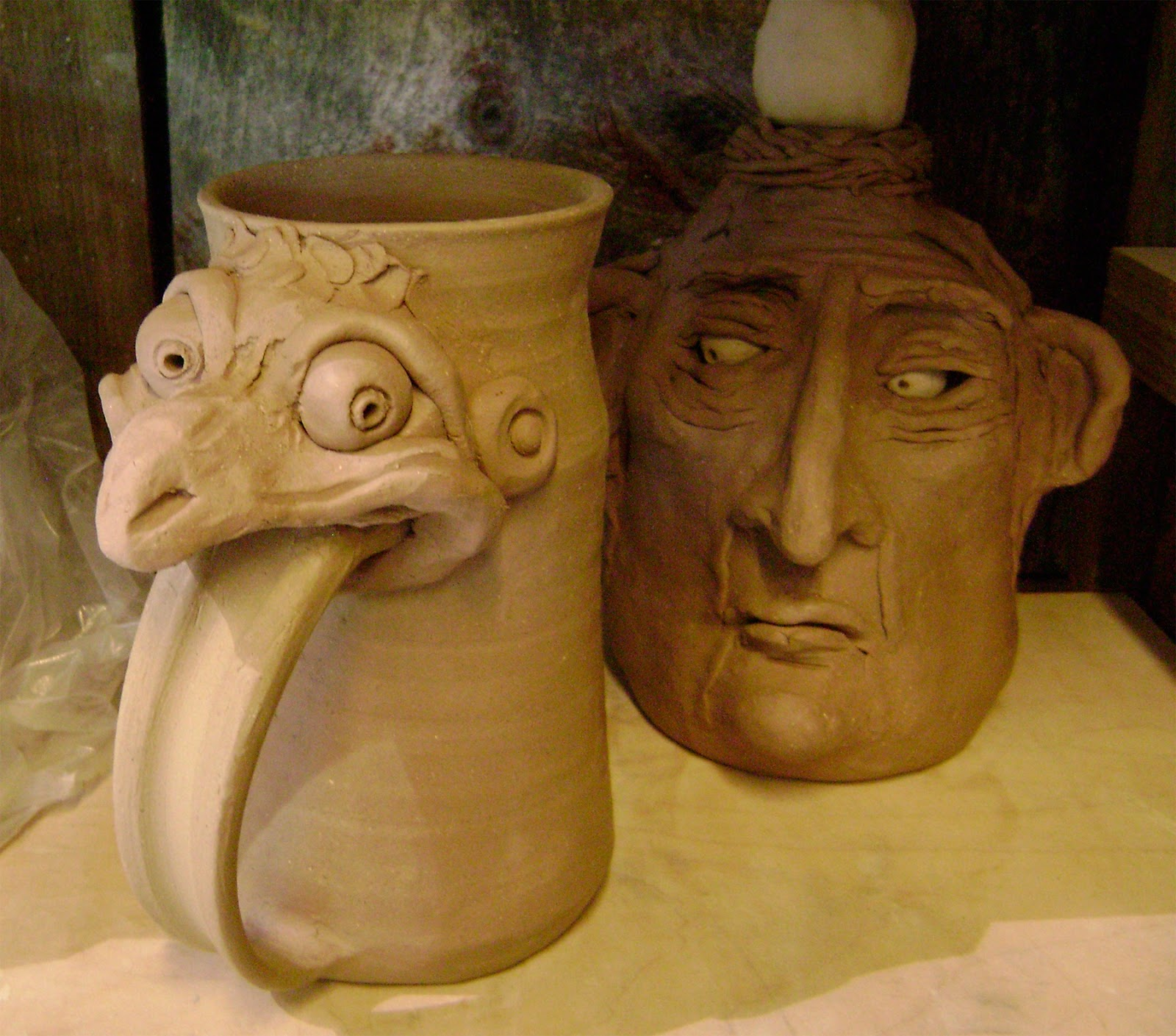 Images About Pottery Face Jugs