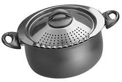 Bialetti 07265 Oval 5 Quart Pasta Pot with Strainer