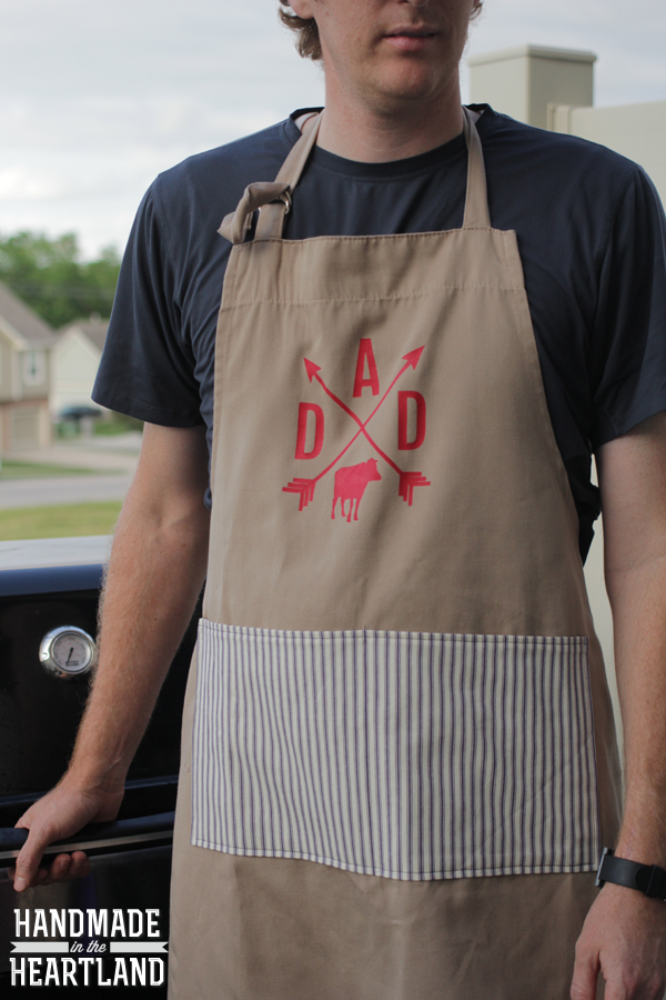 DIY DAD father's day grillmaster bbq apron