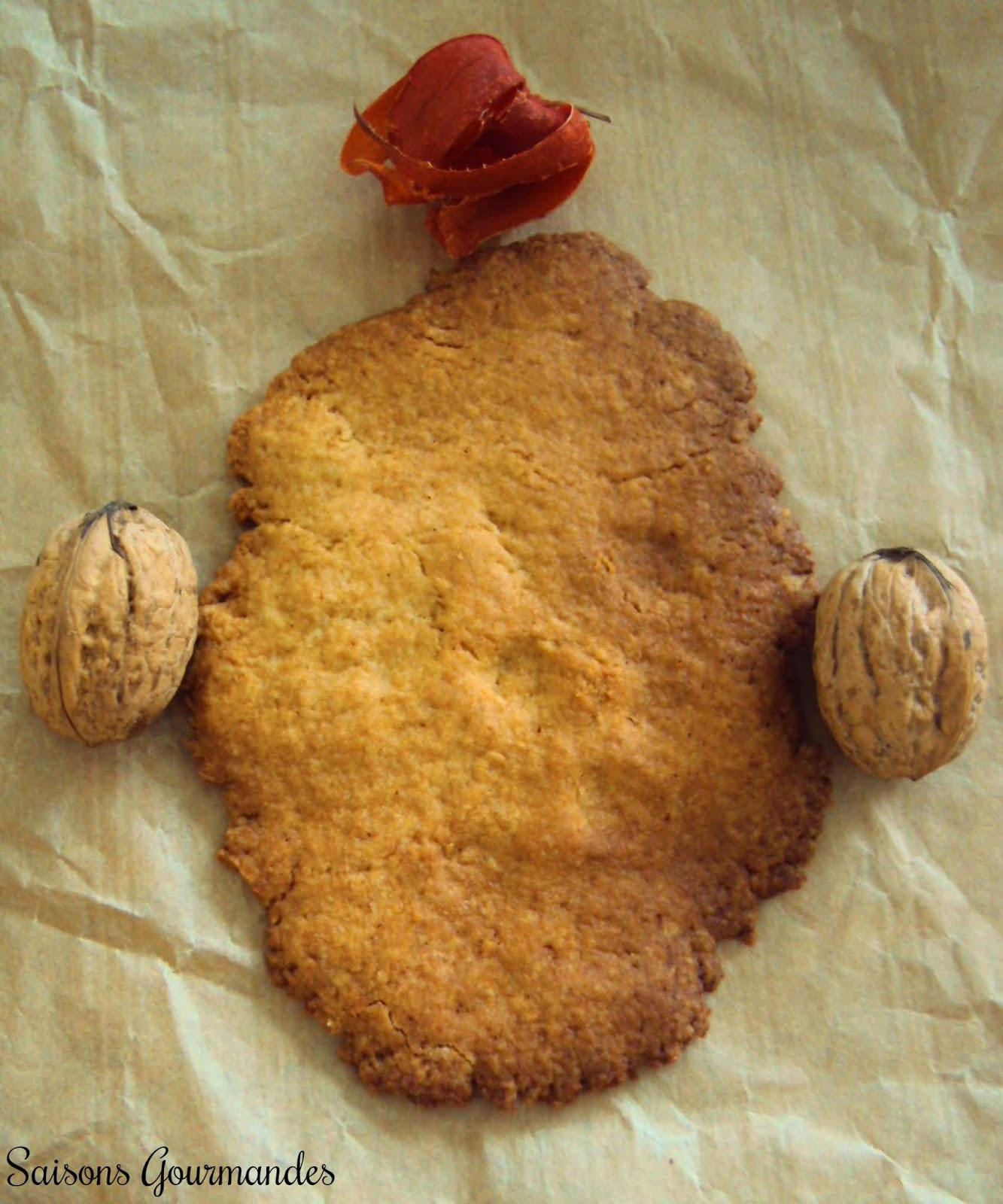 Sablés à la noix, orange et épeautre