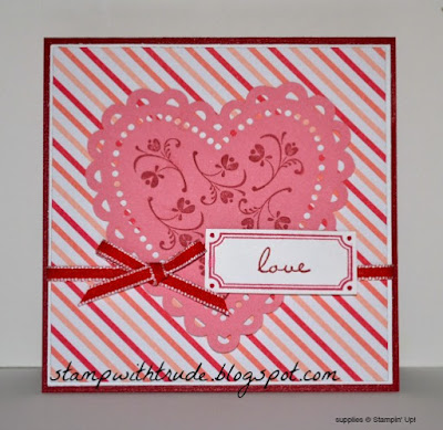 Noteworthy stamp set, Stampin' Up!, http://stampwithtrude.blogspot.com, Trude Thoman, valentine card, love, Throwback Thursday