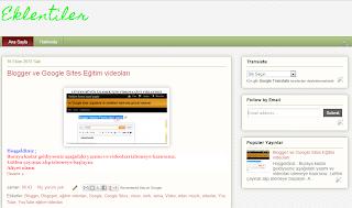 Kurduğumuz blog görüntüsü