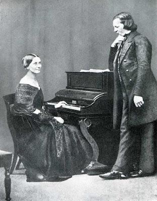 Clara & Robert Schumann,  Daguerreotype of 1850.