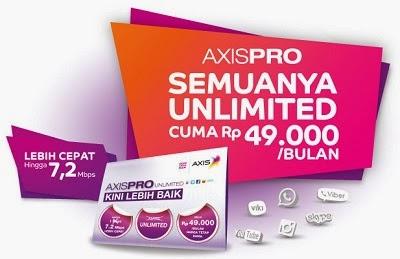 Daftar Paket Internet Axis Unlimited dan Tarif Harga Terbaru 2014
