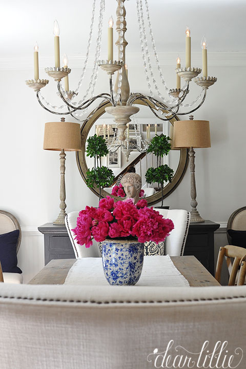 Dear Lillie Peonies In Dining Room And A Sale