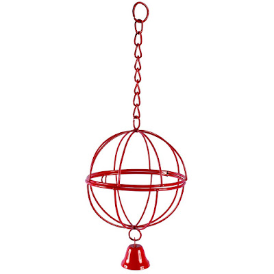 Hang this treat ball in the coop for your chickens.