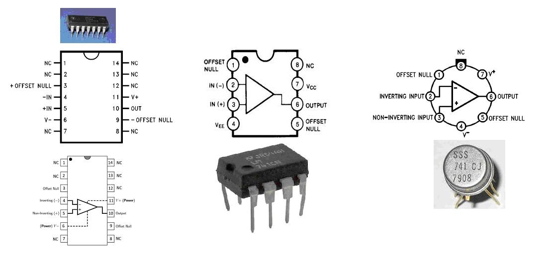 litar projek elektronik  asas penguat kendalian  operational amplifier