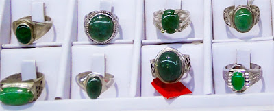 creative silver and imperial jade rings with contemporary styling