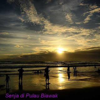 Sunset Island Biawak