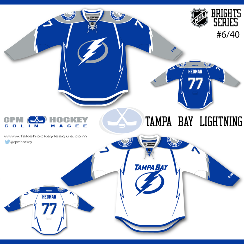 e65e41f6a01 The Lightning have themselves a new alternate jersey and Colin suggests a  new set of primaries. He keeps the white blue scheme and adds silver as a  big part ...
