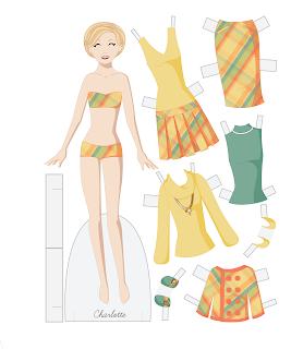 Charlotte - Fashion Friday Paper Doll
