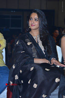 Actress Anushka Anushka Shetty Stills in Black Salwar Kameez at Om Namo Venkatesaya Audio Launch Event  0002.JPG