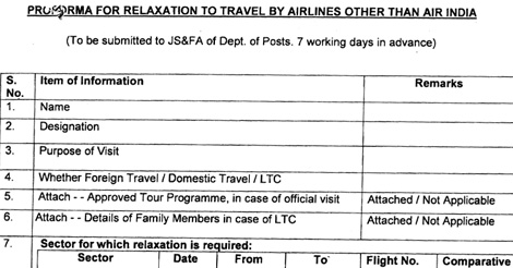 PROFORMA-RELAXATION-TRAVEL-AIRLINES-AIR-INDIA