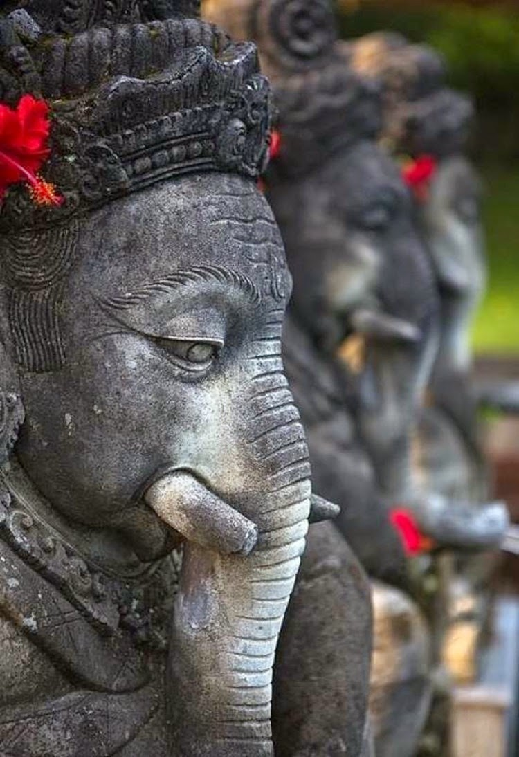 10 Places You Shouldn't Miss in Indonesia | Ganesha statues at the , Ubud, Indonesia