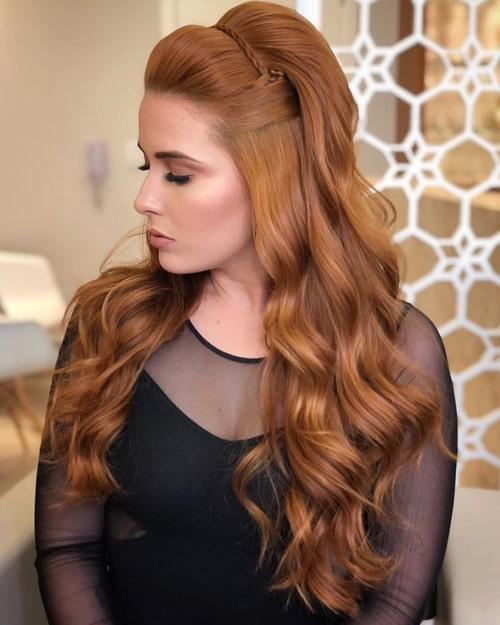 penteado semi preso festa