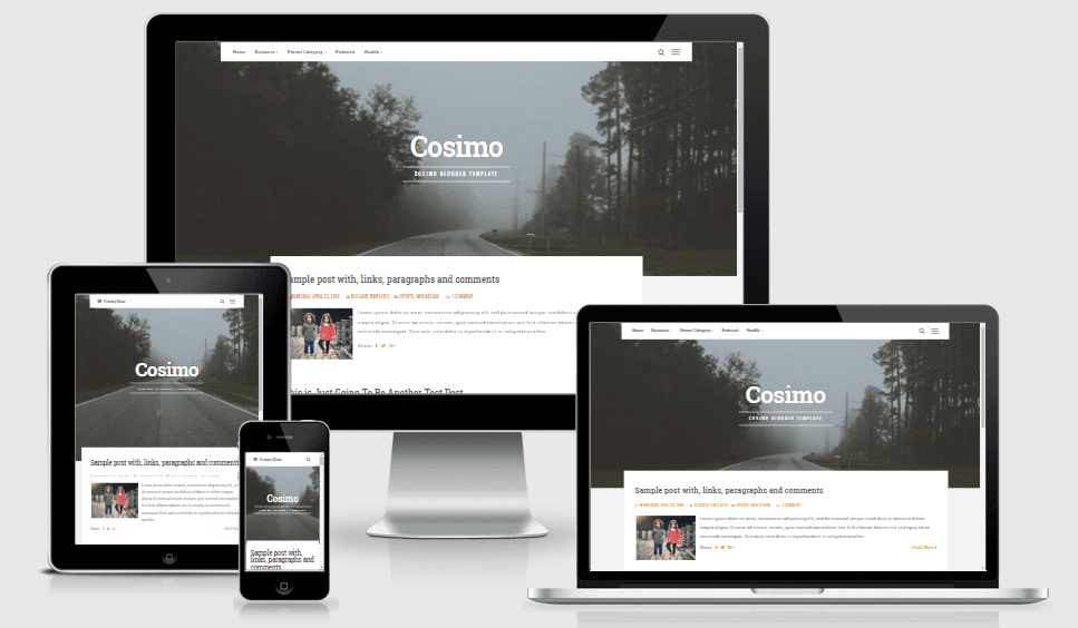 Cosimo - Responsive News and Magazine Blogger Template