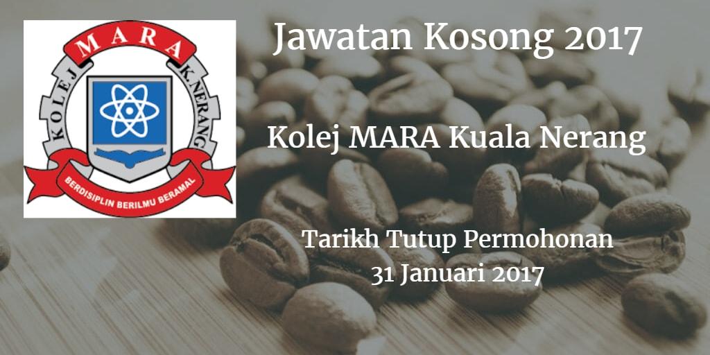 Jawatan Kosong Kolej MARA Kuala Nerang 31 Januari 2017