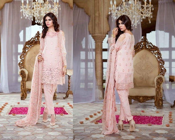 Serene Embroidered Chiffon Eid Collection 2017 Vol-4