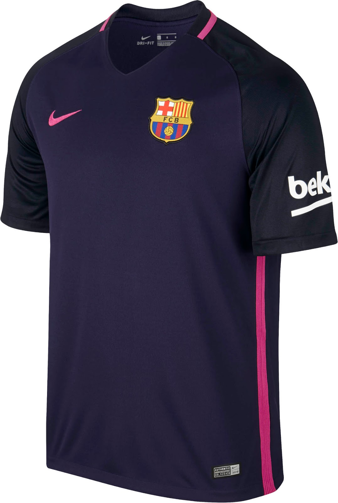 Barcelona 16 17 away kit released footy headlines for Fc barcelone maillot exterieur