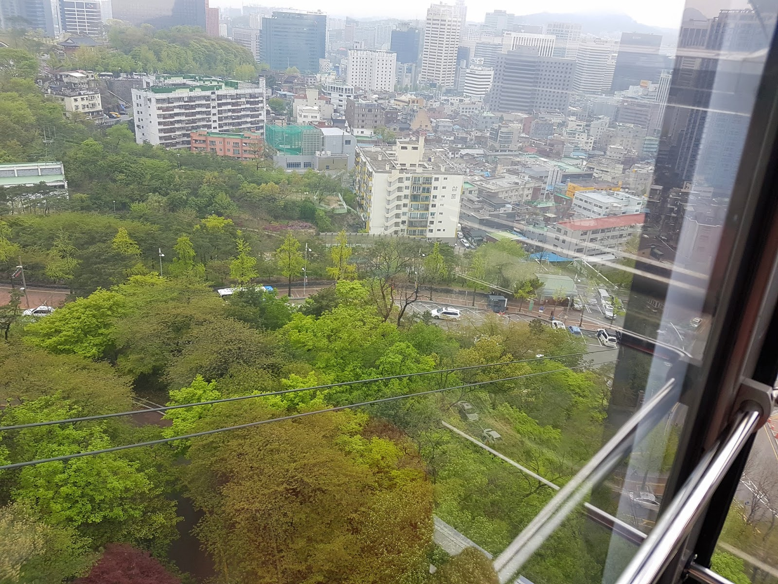 Namsan cable car - The Car Was Made Of Crystal Clear Glass And The View Was Spectacular It Was Just A Short Cable Car Ride So I Savored Every Moment Instead Of Taking Too
